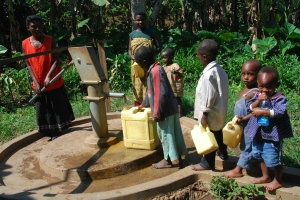 In several communities in Africa, in order to get water, many women and children walk for hours a day, lining up to collect water from the few public taps and wells that aren't dry