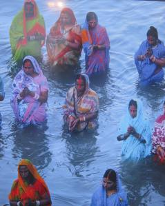 One of pictures that were exhibited during the 2012 World Water Forum in Marseille France showing Women meditating in water.