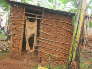 A pit latrine in Bushenyi district, Uganda