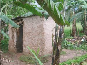 A latrine in rural Uganda.  The world remains behind in providing universal access to safe and hygienic toilets.
