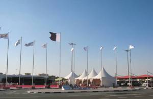 The venue of Qatar Sustainability Expo, held at the Doha Exhibition Center, parallel to the United Nations 2012 Climate Change Conference. By Fredrick Mugira