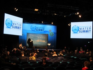 During the Opening Session of Budapest Water Summit