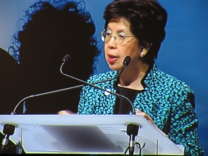 Margaret Chan, the Director General of World Health Organization addressing the Budapest Water Summit
