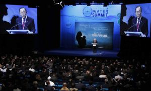 UN Secretary-General Ban Ki-moon Addressing the Budapest Water Summit