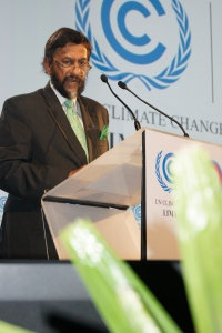 Dr. Rajendra Kumar Pachauri, chairperson IPCC speaking during the opening ceremony of COP20 in Lima