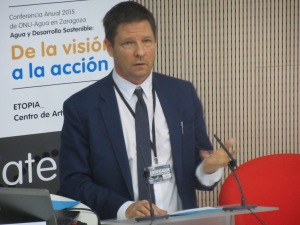 Gavin Power, Deputy Director of the UN Global Compact and Head of the CEO Water Mandate speaking during the conference
