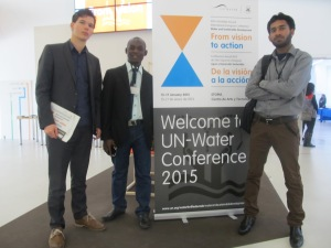 Some of the representatives of the youths that attended the UN-Water's 2015 Annual International Zaragoza Conference