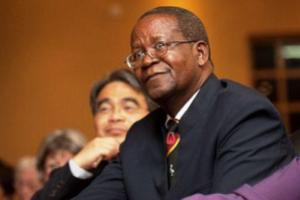 Prof. Ephraim Kamuntu, Uganda's Minister for Water and Environment. Photo by: WSSCC ‏@WatSanCollabCou