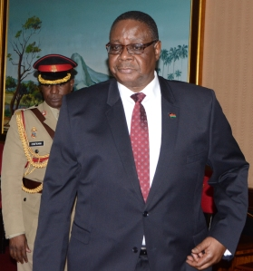 Malawi's leader Peter Mutharika backs feasibility studies. Photo by George Mhango