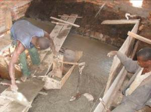 Construction of machine foundation underway at the Power House