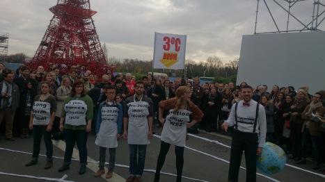 Protestors during COP21 in Paris