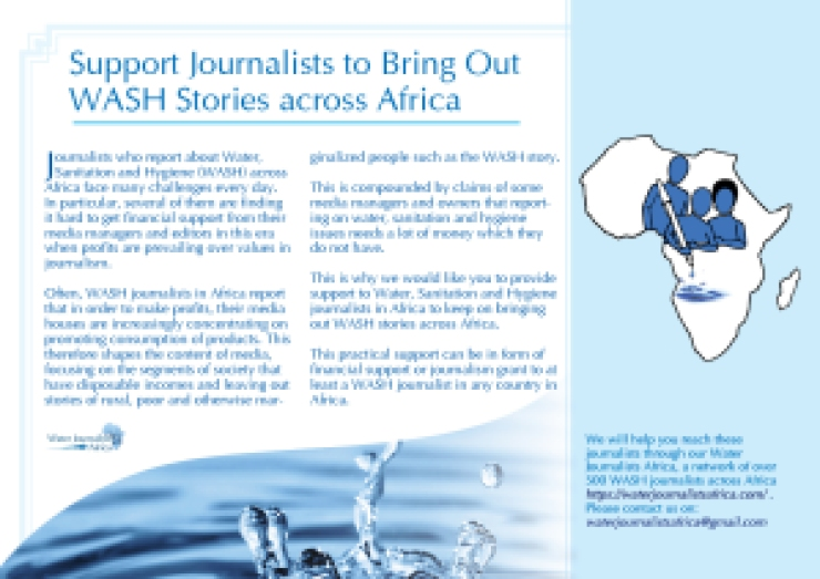 Support Journalists to Bring Out WASH Stories across Africa