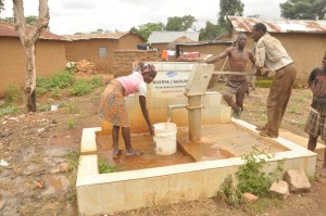 One of hand pumps constructed by the Nigerian Turkish International College NTIC in Kaduna state, Nigeria.