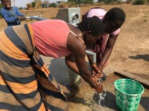 Joy in Ekesi village because of borehole. By George Mhango